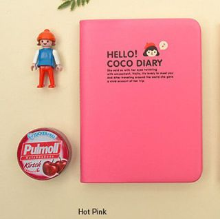 CoCo Diary/Daily planner for 2013 year Hot Pink+Sticker+2013 Calendar