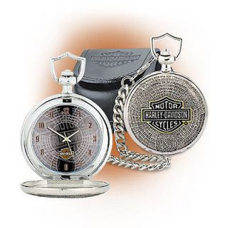 Franklin Mint Harley Davidson Full Throttle Collector Pocket Watch