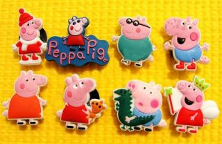 NEW PEPPA PIG SHOE CHARMS / XMAS / CAKE DECORATIONS (GEORGE PIG) FOR