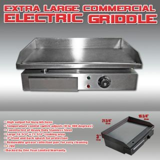 LARGE 55cm COMMERCIAL ELECTRIC GRIDDLE HOT SALE AMAZING PRICE SAVE