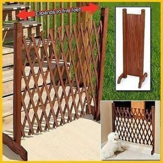 EXPANDABLE PORTABLE WOOD or WOODEN FENCE CHILD BABY PET KID DOOR GATE