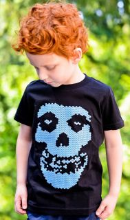 For Kids LiteBrite Misfits Tee Shirt   GLOW IN THE DARK   Punk Tshirt