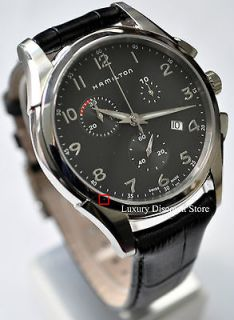 H38612733 Hamilton Mens Chronograph Watch Minor Cosmetic Damage Black