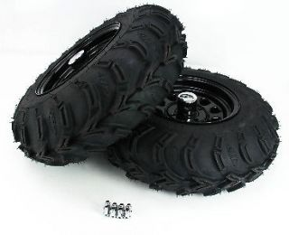 06 YFM400 Big Bear 4x4 ITP Mud Lite AT Rear Tire & Wheel Kit 25x10 12
