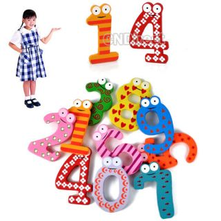 10Pcs Wooden Figures Refrigerator Magnetic Fridge Magne For Baby Toys