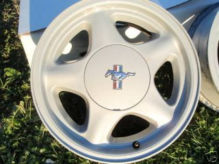 1979 1993 Ford Mustang Pony Aluminum Wheel Stock 4 Lug 16 5 star