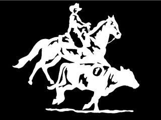 Rodeo Horse Trailer car truck window vinyl decal sticker graphic