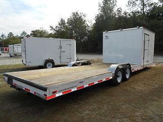 30 8.5X30 HYBRID ENCLOSED CARGO + OPEN UTILITY ATV, CAR HAULER TRAILER