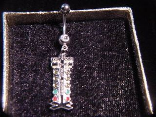 drag christmas tree staging light auto racing jewelry belly ring