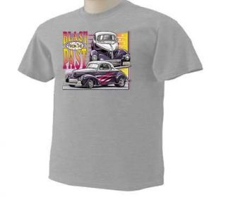 Blast From The Past Vintage Cars Autos Drag Racing 50sT Shirt