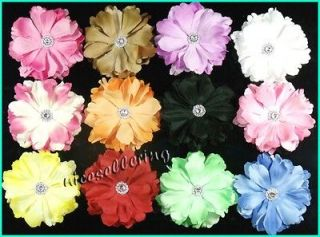 12 pcs 3.5 Peony Girl Toddler Baby Flower Hair Clip Bow Headbands Hat