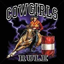 Barrel Racing Cowgirls Rule T Shirt Rodeo Tee Horse Hoodie Tank Top