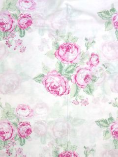 Simply Shabby Chic Pink Voile Curtain Panel 54x84 Pink Cabbage Roses