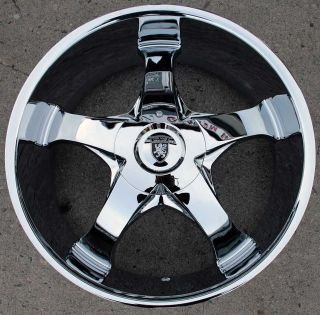 VON MAX VM04 22 CHROME RIMS WHEELS BMW 645 650 CAPRICE / 22 X 9.5 5H