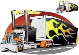 Cartoon Kenworth Big Rig Semi Truck Hauler Tshirt 2023