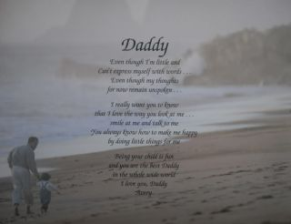 DADDY POEM PERSONALIZED GIFT TO DAD FROM CHILD BIRTHDAY, CHRISTMAS