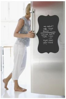 BLACKBOARD, Chalkboard DECAL, SELF ADHESIVE shaped Sticker, Fridge