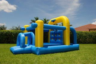 Obstacle Course Bounce House Inflatable Bouncer Slide Moonwalk Jumper