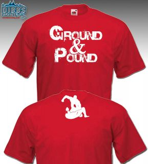 GROUND & POUND TSHIRT MMA CAGE FIGHTING BROCK LESNAR