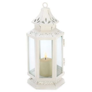 10 White Victorian Candle Holders Lanterns Tabel Wedding CENTERPIECES