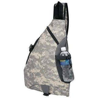 Digital Camo Camouflage Sling Backpack Book Bag Army Camping Hunting