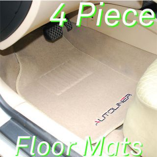 Autoliner 4Pc Heavy Carpet Floor Mats With Cadillac Tan (Fits