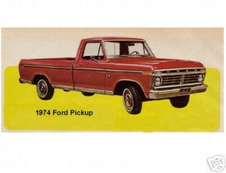 1974 Ford Pickup Truck Refrigerator Magnet