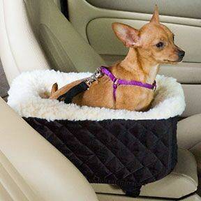 Snoozer Pet Dog Car Lookout Console Booster Seat Auto