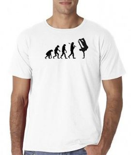Mens Evolution of Man Break Dance Breakdance Hip Hop T Shirt Tee