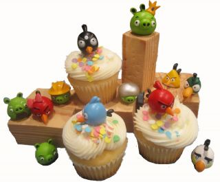 12 pc Angry Birds Figure Birthday Party Favor Set Cake Cupcake
