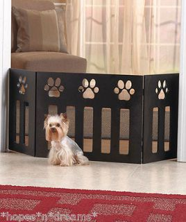 PET DOG GATE PAW PRINT FOLDS FOR STORAGE FITS UP TO 45 WIDE DOORWAY