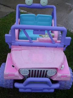 Fisher Price Power Wheels Barbie Take Along Jeep Model 77770