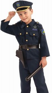 Kids Boys Police Officer Cop Halloween Costume L