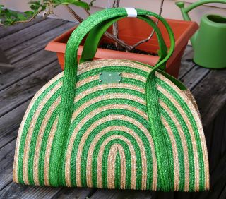 Kate Spade Lawn Party LARGE Half Circle Tote   NWT $345