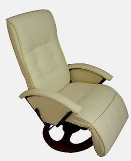 Pfillo Creme White Office TV Home Theater Recliner Massage Chair 7919
