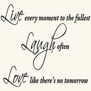 LIVE LAUGH LOVE INSPIRATIONAL QUOTE VINYL WALL DECAL STICKER ART DECOR