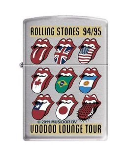 Zippo Rolling Stones Voodoo Lounge Tour Brushed Chrome Lighter, Low