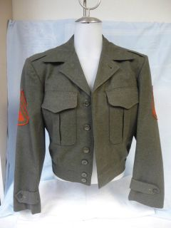 MENS WWII US MARINE CORPS VANDERGRIFT MILITARY JACKET w/HAT (SMALL
