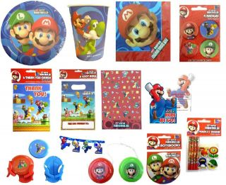 OFFICIAL   SUPER MARIO BROS KIDS PARTY RANGE ITEMS FILLERS   ALL IN 1