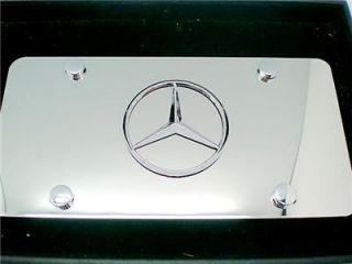 Mercedes Benz EMBLEM badg Polished Steel License Plate