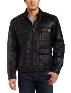 michael kors leather jacket in Mens Clothing