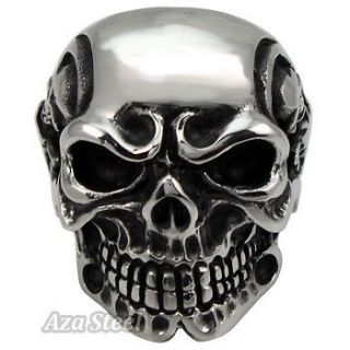 stainless steel skull ring in Mens Jewelry