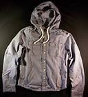 Abercrombie & Fitch Mens Button Up Hoodie Hooded Mens Shirt (L