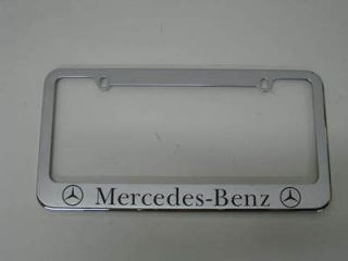 MERCEDES BENZ   chrome metal license plate frame S/SL/CL/CLS + FREE