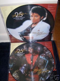 Newly listed MICHAEL JACKSON THRILLER DOUBLE VINYL PICTURE DISC NEW $