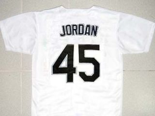MICHAEL JORDAN #45 BIRMINGHAM BARONS BASEBALL JERSEY WHITE BUTTON DOWN