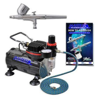 Action AIRBRUSH KIT SET Air Compressor Spray Auto Paint Hobby Craft