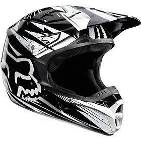 black white l fox racing v1 undertow helmet chaparral motorsports