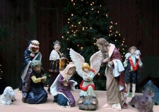 NATIVITY SCENE SET INDOOR/OUTDOOR 11 PIECE SET 6 18 NEW