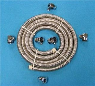 16 CLAMPS FOR BRAIDED FUEL/OIL LINE HOSE  FUEL YOUR HARLEY